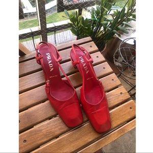 Vintage Prada mule square toe shoes